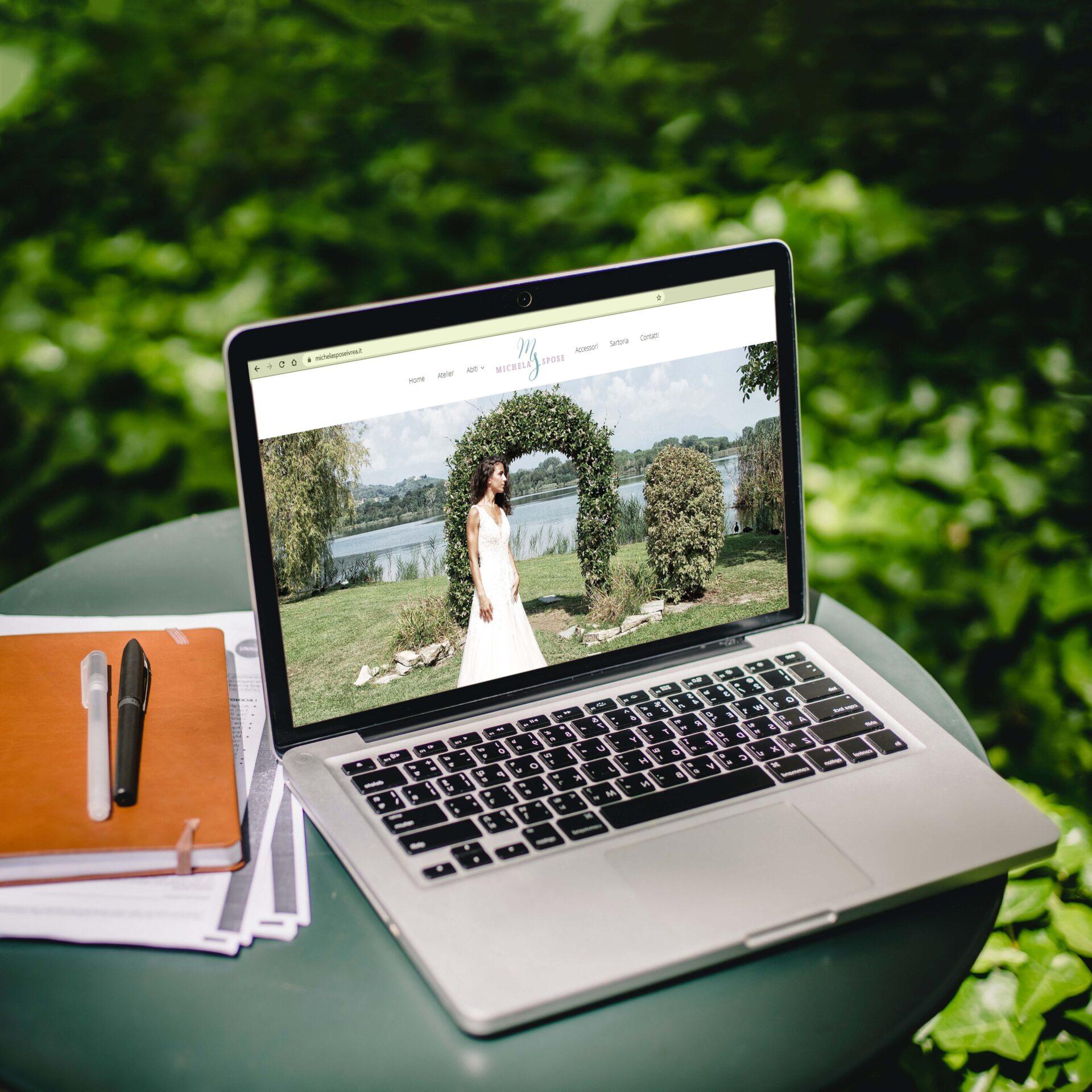Sito Michela Spose con visualizzazione da computer