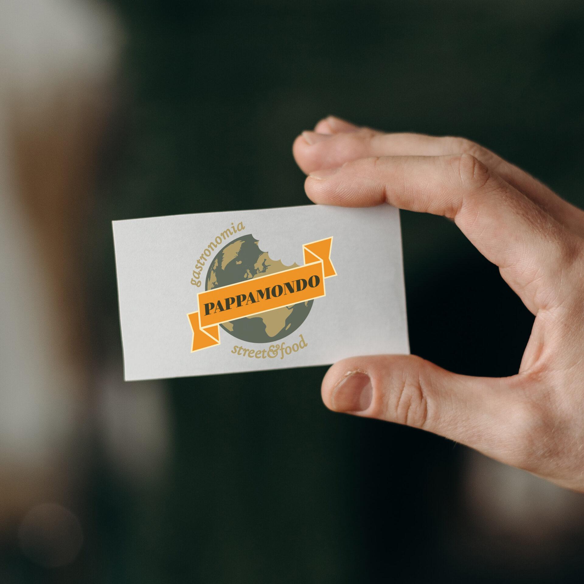 Biglietto da visita logo gastronomia Pappamondo