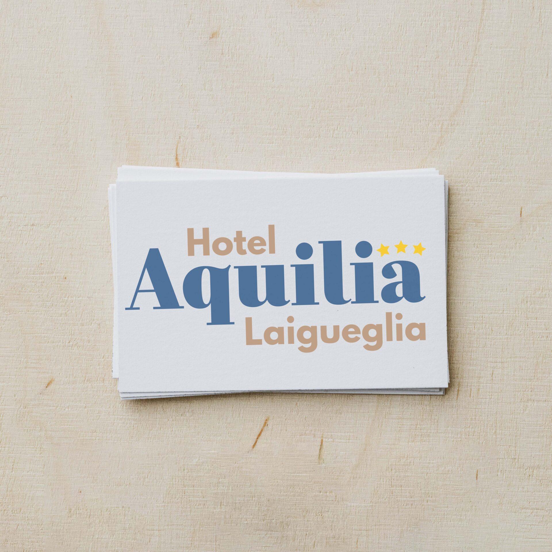 Biglietto da visita logo Hotel Aquilia